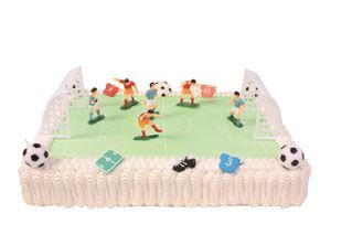 Voetbalveld ijstaart